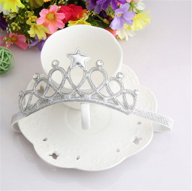 Silver Crown your little Princess with this stunning rhinestone party crown.
