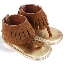 Baby girl Summer sandals with fringe detail