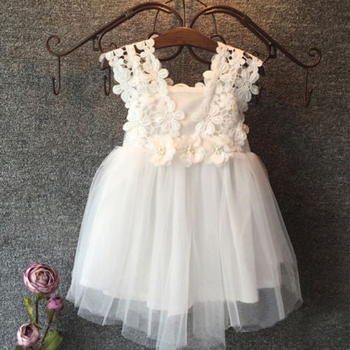 Stunning tulle lace party dress.