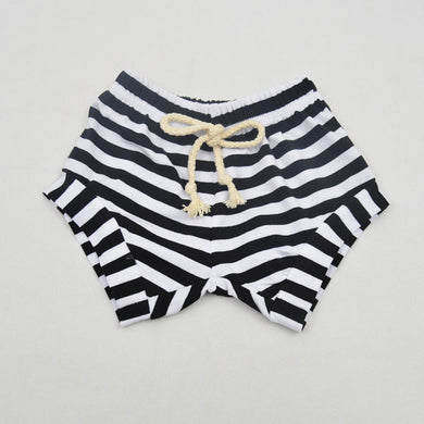 Black Striped Shorts