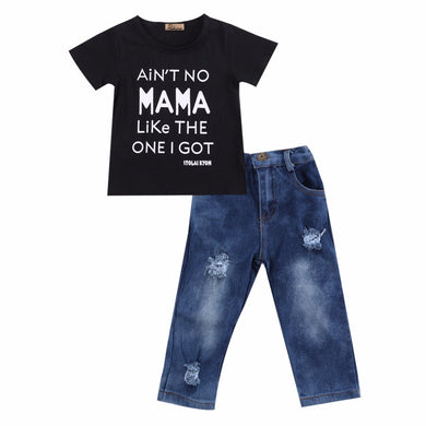 Aint No Mama Denim Set