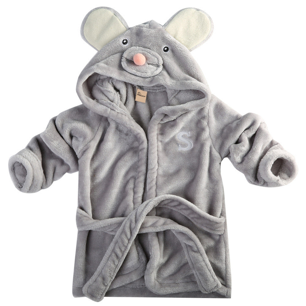 mouse Gorgeous and snug character hooded bathrobe