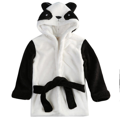 panda Gorgeous and snug character hooded bathrobe
