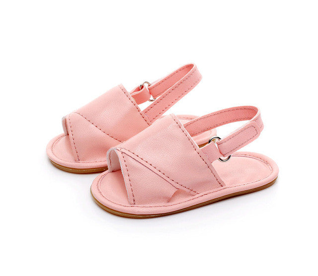 pink Beautiful baby girls pre-walker summer sandals.