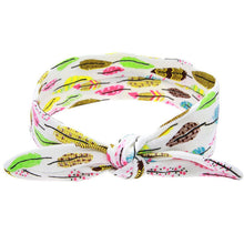 Feather print headband