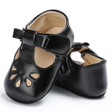 Sweet baby girl summer shoes with flat heel.