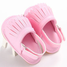 pink Trendy Summer tassel sandals with flat heel.