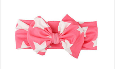 watermelon Beautiful girls bow star print headband