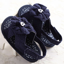 Summer girls cotton lace sandals with floral or bow detail