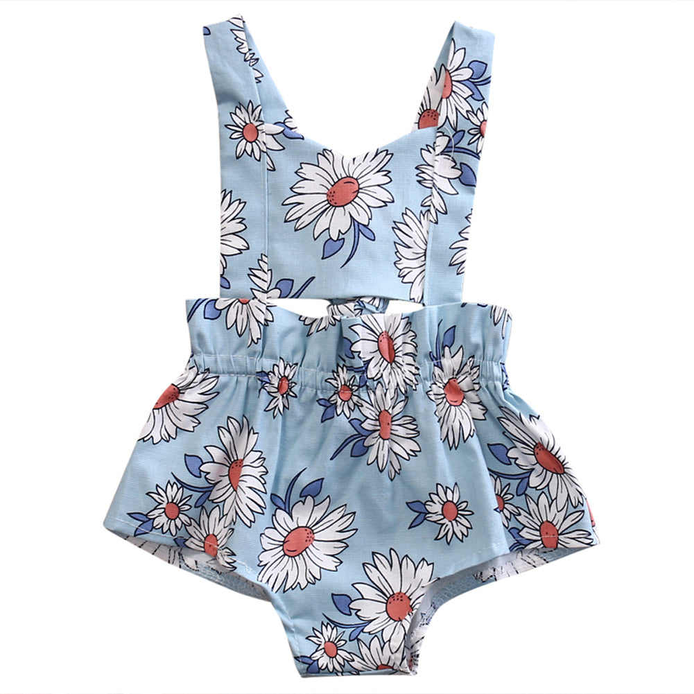 Stunning girls romper jumpsuit with floral print.