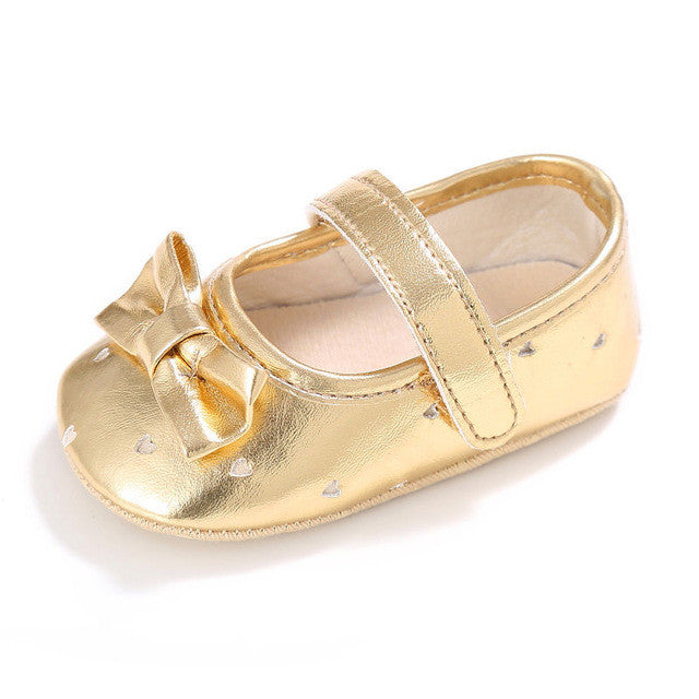 gold Pretty girls dainty party slipper shoes
