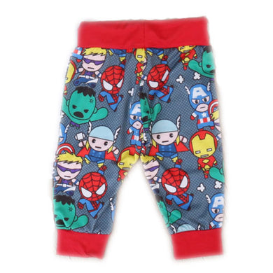 Super adorable unisex super hero print pants.