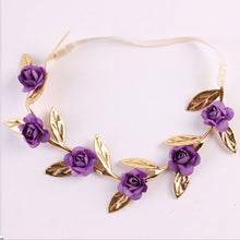 purple Beautiful Rose Headband for your little Princess