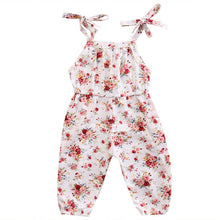 White Floral Sunsuit Romper