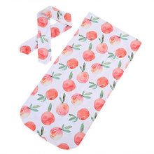 Rose Soft easy to swaddle infant blanket wrap with matching headband.