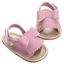 pink Beautiful baby girls tassel sandals
