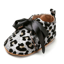 Silver Leopard Bling Soft Shoes