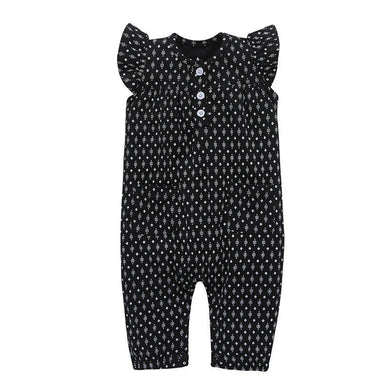 Gorgeous polka dot sleeveless jumpsuit romper