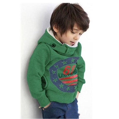 Funky green hooded sweatshirt