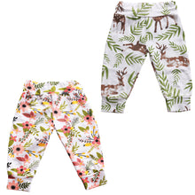 Cute floral and deer harem pants