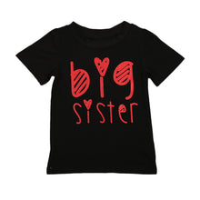 Adorable, 'Big Sister' printed short sleeve t-shirt.