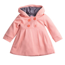 Girls pink hooded lined coat.