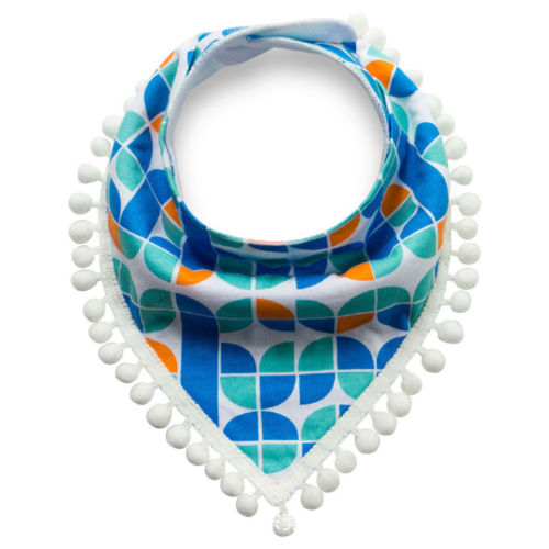 Blue Tassel Dribble Bib