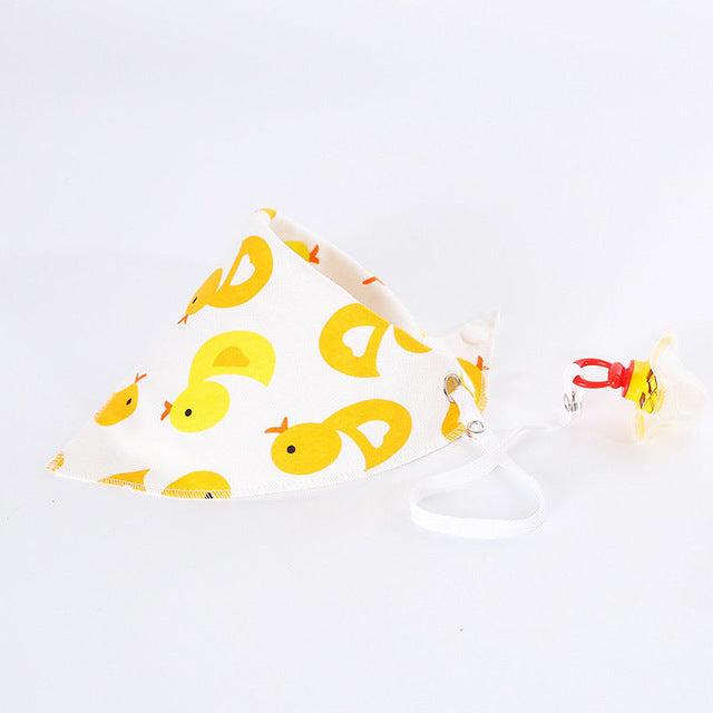 Duck Cartoon Dribble Bib