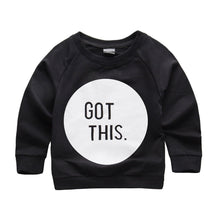 """Got This"" printed black sweatshirt."