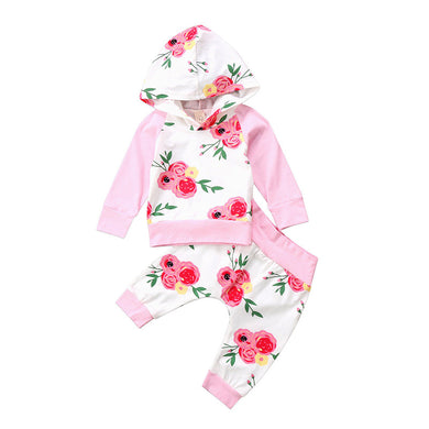 Flower Garden Hooded Set
