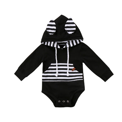 Long Sleeve Hooded Romper