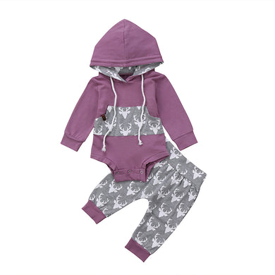 Hooded Deer Romper Set