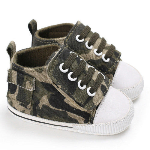 Camo baby casual canvas shoes