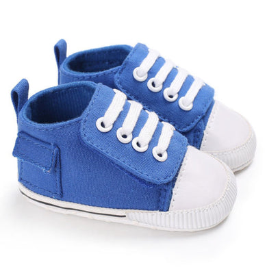 Blue baby casual canvas shoes