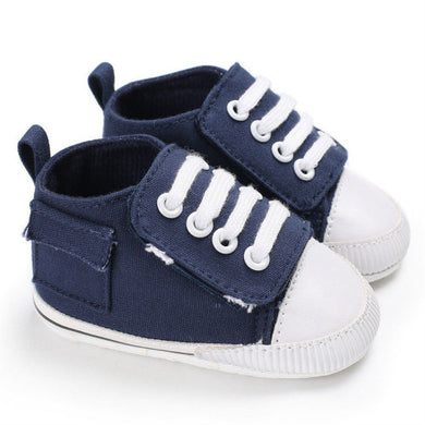 Dark blue baby casual canvas shoes