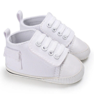 White baby casual canvas shoes