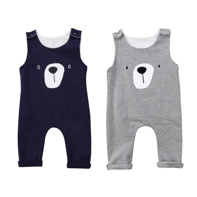 Sleeveless Bear Jumpsuit
