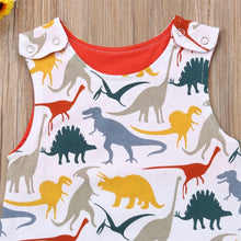Red Trim Dinosaur Jumpsuit