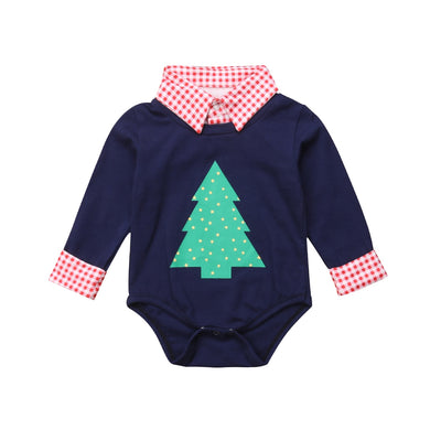 Little Gentleman Christmas Romper