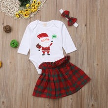 Santa 3 Piece Romper Set