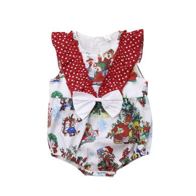 Christmas Bow Romper