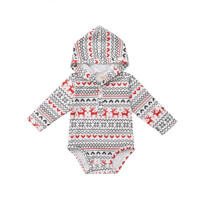 Hooded Reindeer Romper