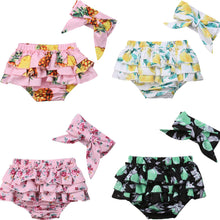 Patterned Ruffled Bloomers with Headband