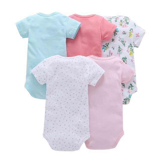 Short sleeve rompers set for baby summer - Simple colors