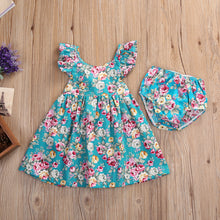Adorable floral sundress and bloomers set