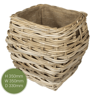 Kelshall Small Log Basket - Lined