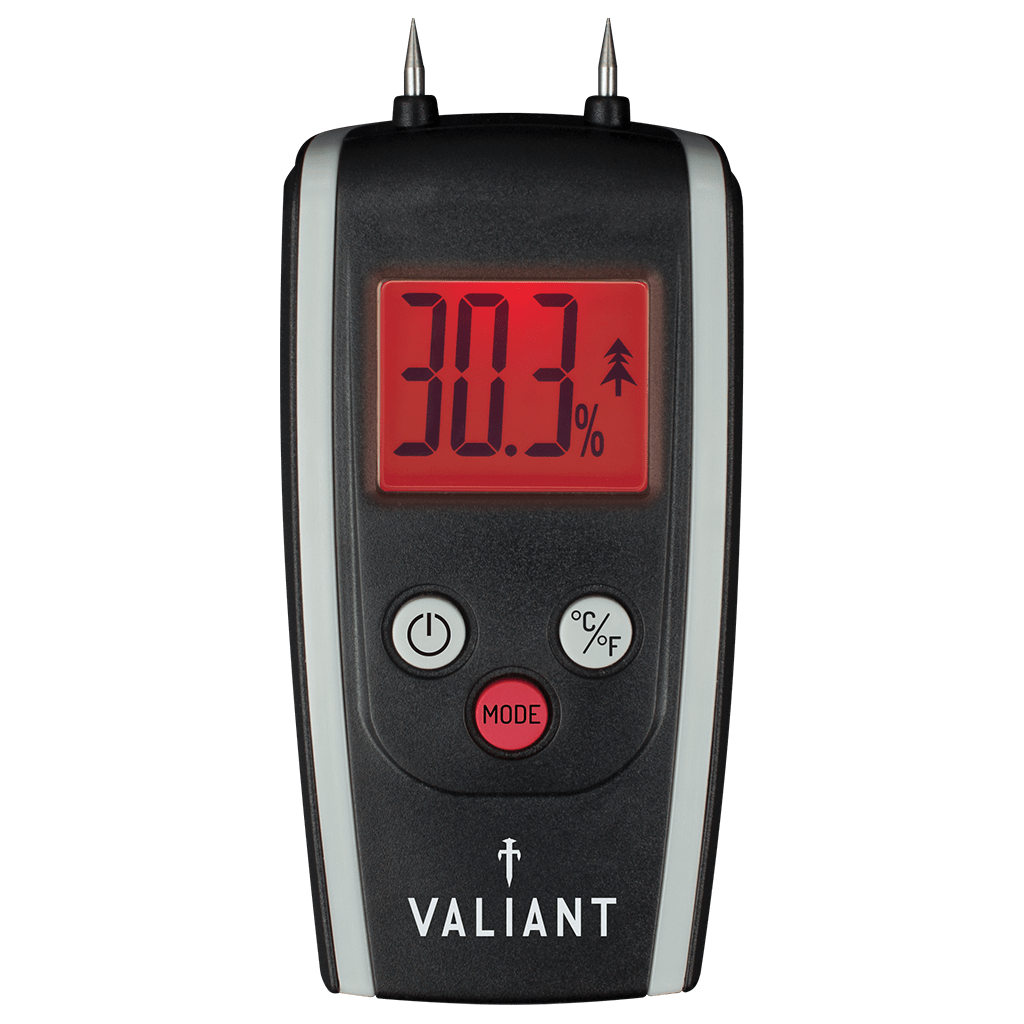 Valiant Colour Change Moisture Meter showing red screen, on white background