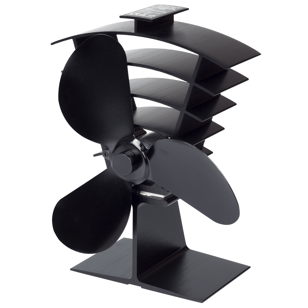 A photo of the Ventum III Heat Powered Stove Fan on a white background.