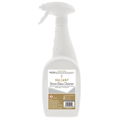 Valiant Stove Glass Cleaner on white background