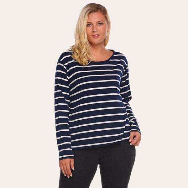 Jail-Bird Striped Pullover-Laura Sonia